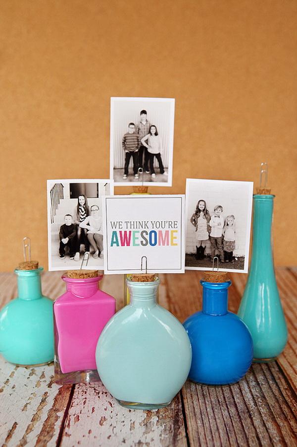 Painted Photo Bottles.