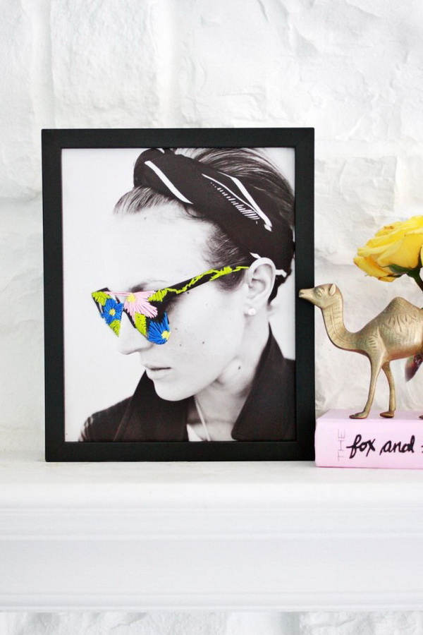DIY Embroidered Photo Art.