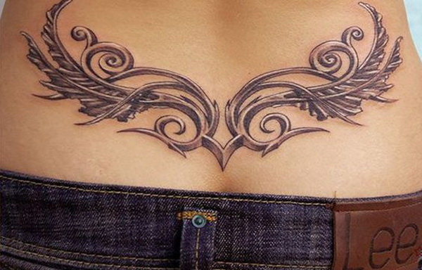 Floral Tattoo on Lower Back.