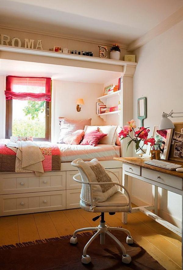 Nice room for a teenager. Small teen girls\u0027 bedroom design with style. & 40+ Beautiful Teenage Girls\u0027 Bedroom Designs - For Creative Juice