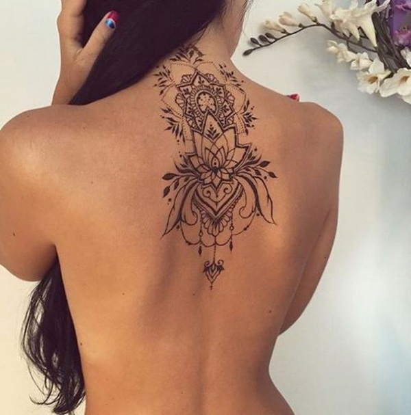55 Attractive Back Of Neck Tattoo Designs For Creative Juice Whether you're a woman or a man, the neck is a great place to get inked because you have so many different. attractive back of neck tattoo designs