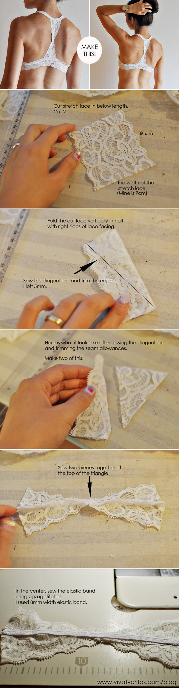 DIY Racer Back Bra Sewing Tutorial.