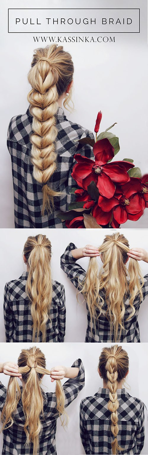 Pull Through Braid Hair Tutorial.