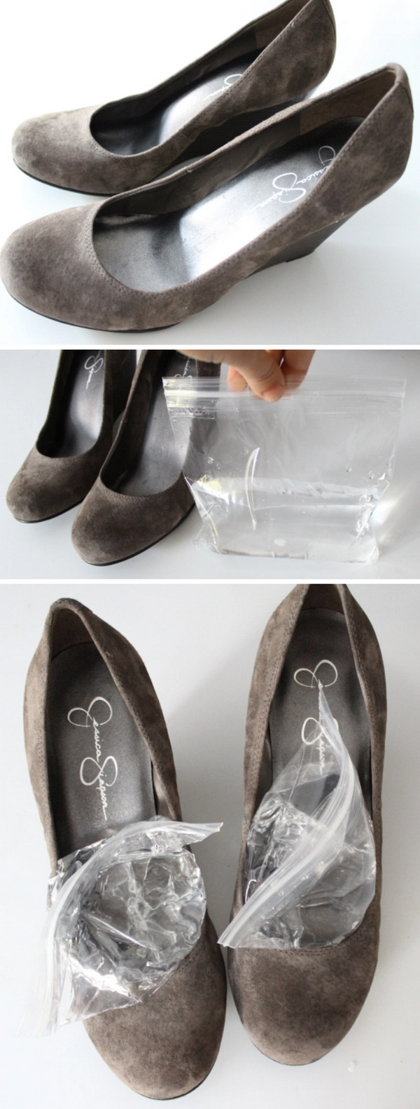 Stretch Your Shoes in the Freezer.
