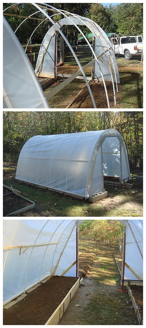 DIY Hoop House Greenhouse With $50.