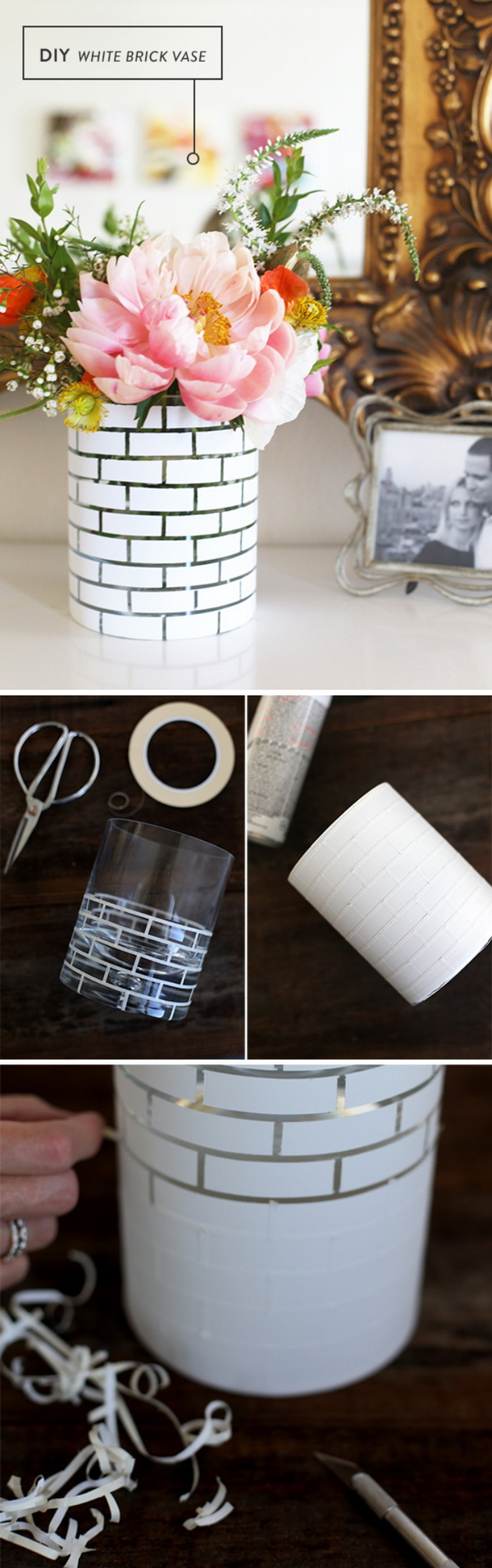 DIY White Brick Vase A Creative And Easy Way To Add Some New Life Into