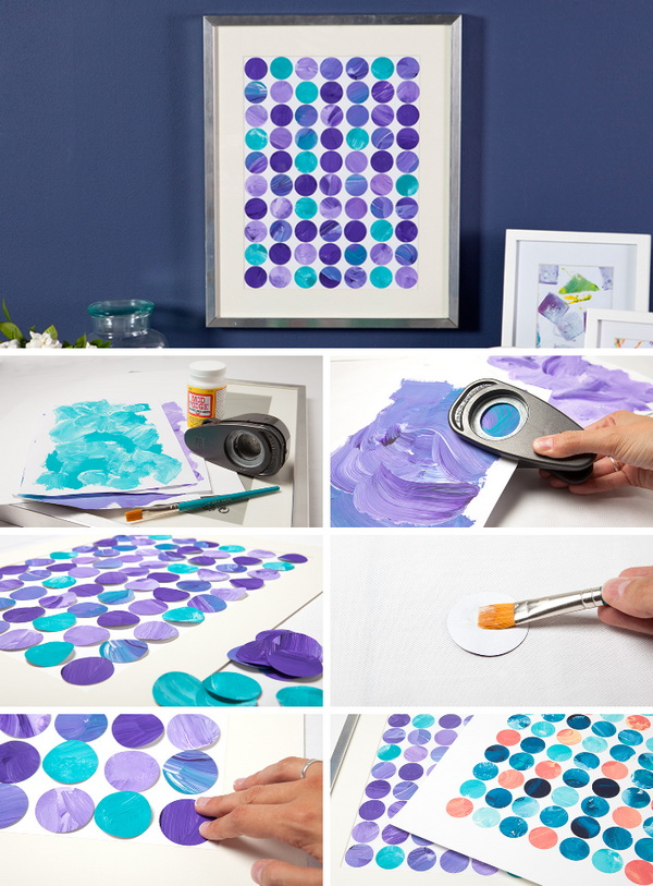 DIY Artful Circle Framed Wall Art.