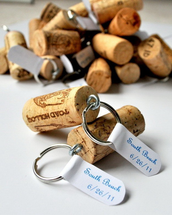 Wine Cork Key Chains.