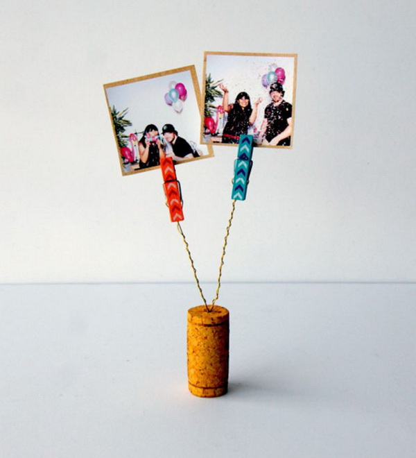 Wine Cork DIY Photo Clip.