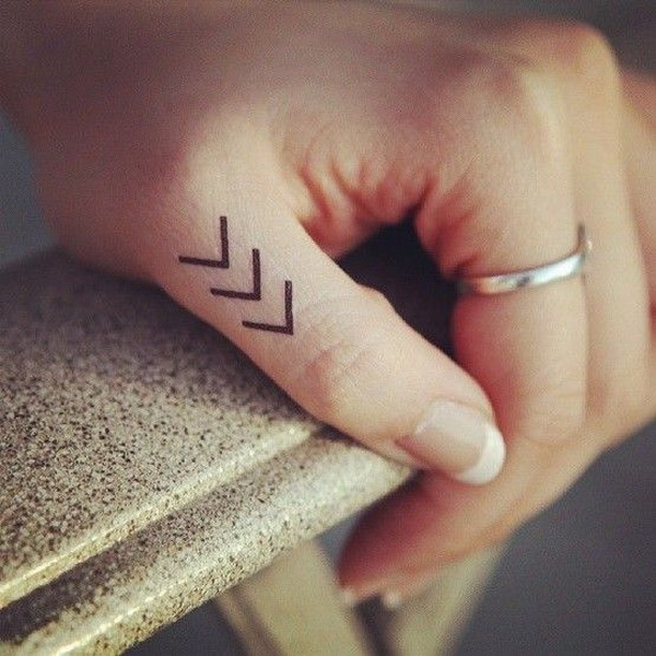 Simple But Beautiful Finger Tattoo Design.