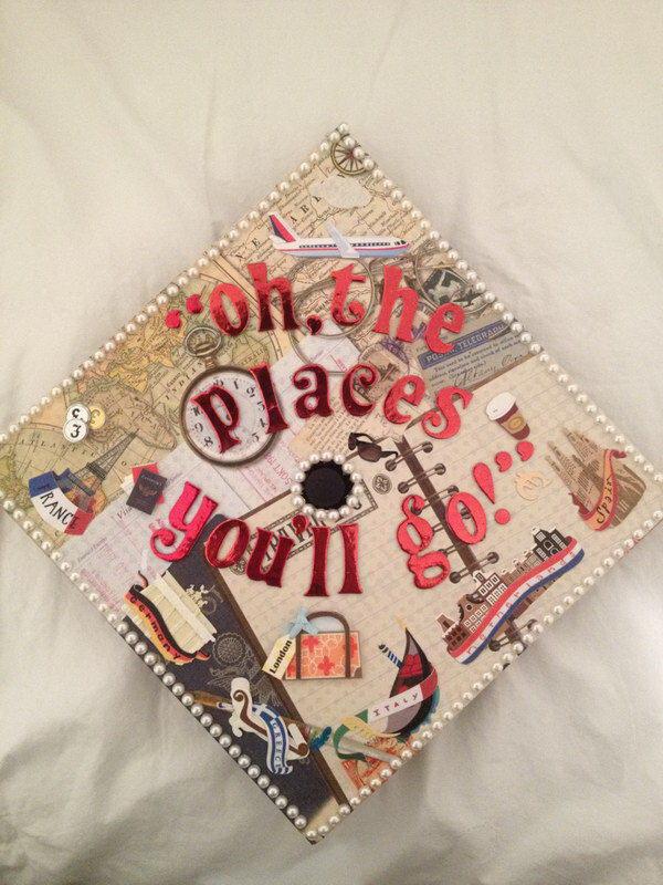 Graduation Cap Decoration in Vintage Look. 30+ Awesome Graduation Cap Decoration Ideas.