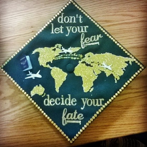 Map Graduation Cap. 30+ Awesome Graduation Cap Decoration Ideas.