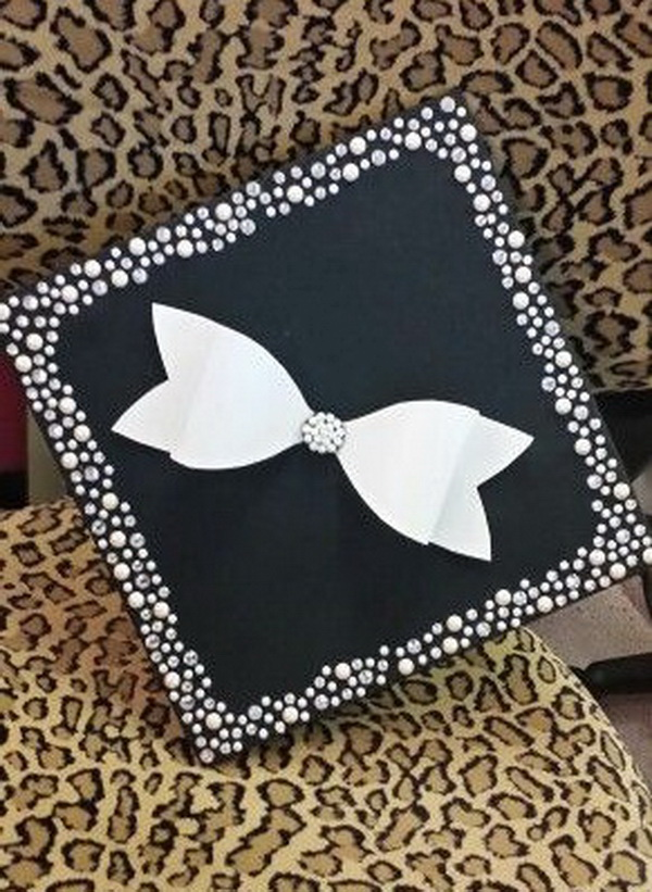 Cute Bow Graduation Cap. 30+ Awesome Graduation Cap Decoration Ideas.