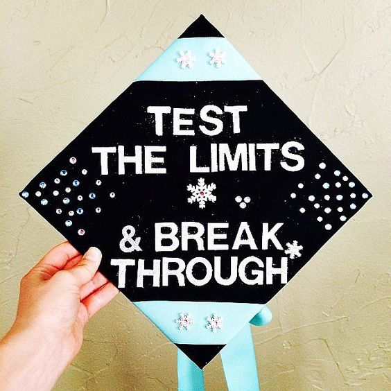 Frozen Inspired Graduation Cap---40+ Awesome Graduation Cap Ideas.