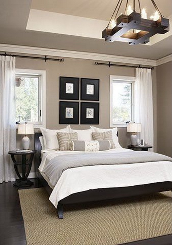 25 awesome master bedroom designs for creative juiceclean and simple white, gray and beige master bedroom love the rustic chandelier!