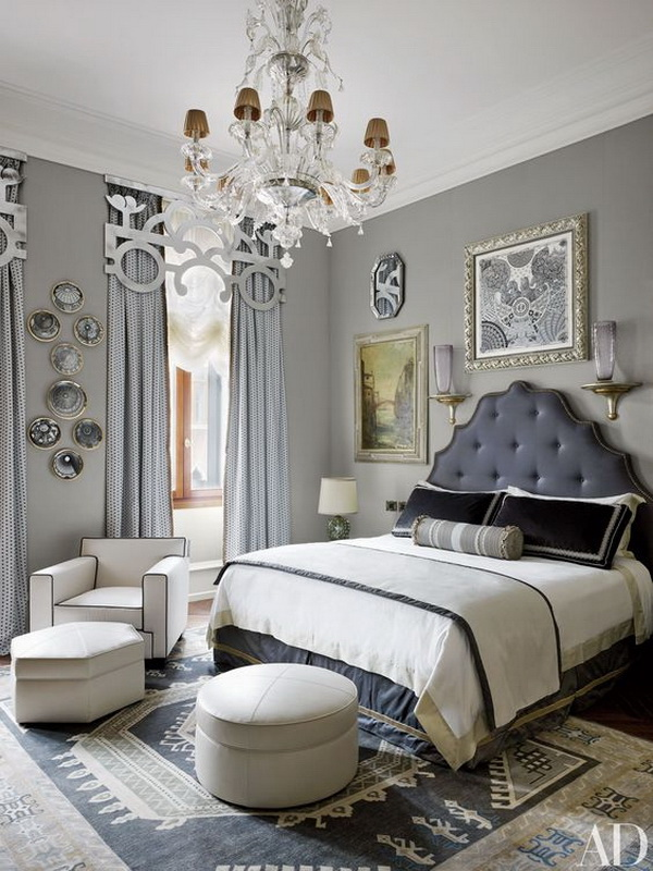Darker Gray Painted Master Bedroom.