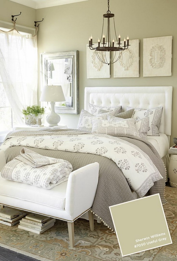 Gorgeous Gray and White Master Bedrooms.