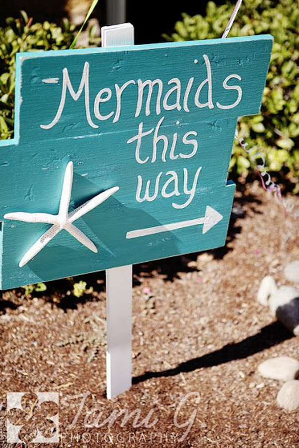 Mermaid Party Sign.