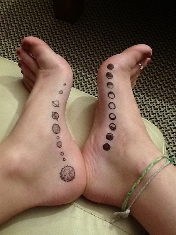 Moon Tattoo on Foot.
