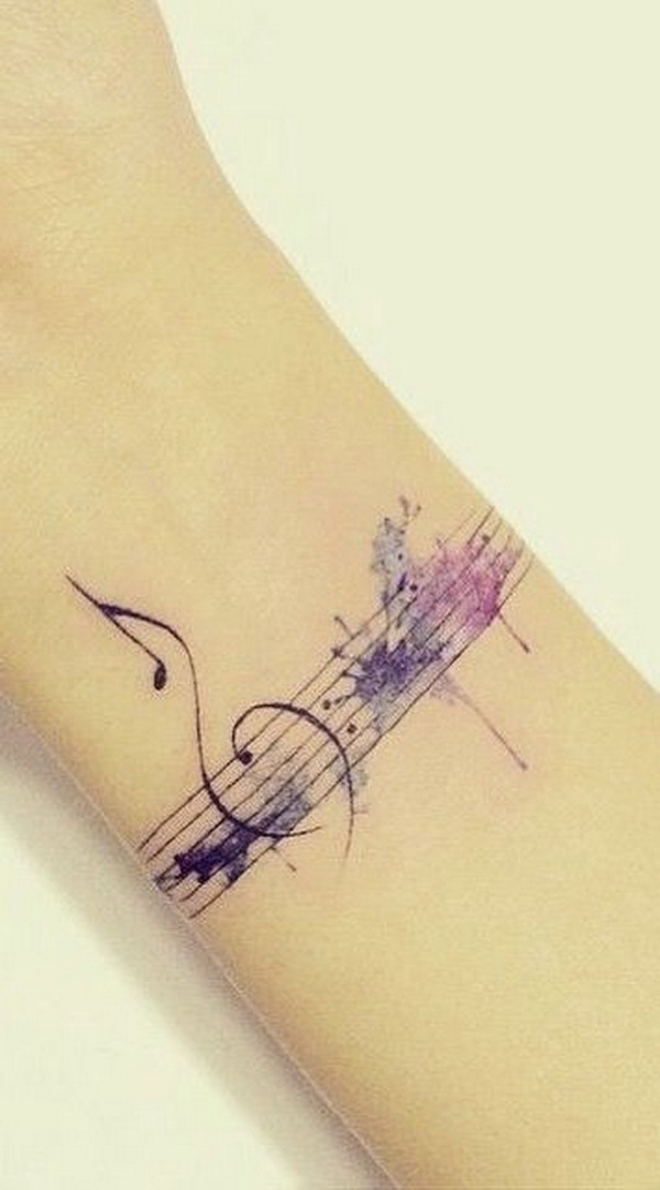 Gentle Musical Tattoo on Wrist.