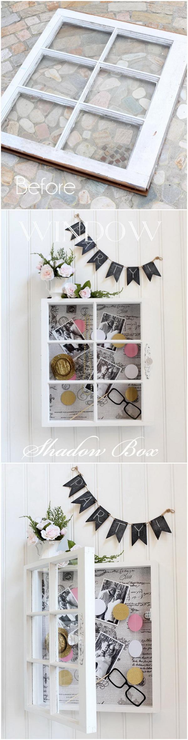 window shadow storage box this diy shadow