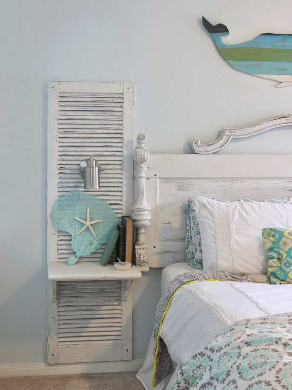 Vintage Shutters For Country Chic Bedroom Decor
