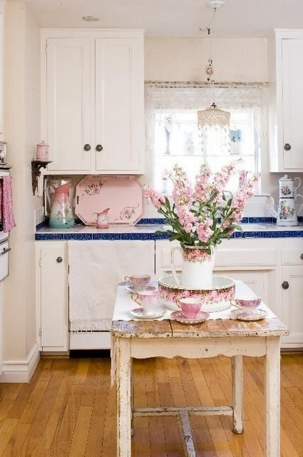 decor for kitchen cupboards lights 35 awesome shabby chic designs accessories and ideas fresh flowers rustic island