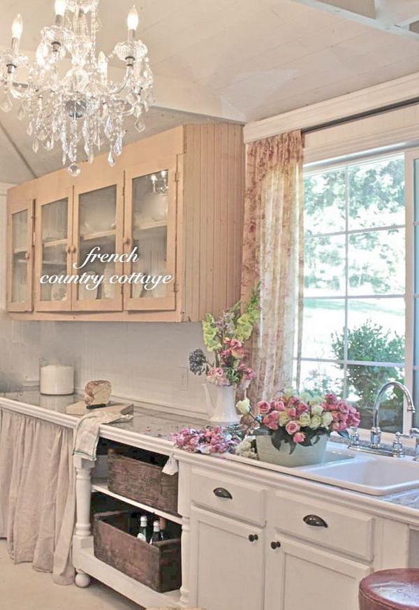 French Cottage Shabby Chic Kitchen.