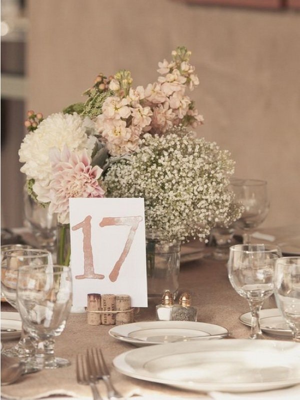 Baby's Breath Table Centerpiece.