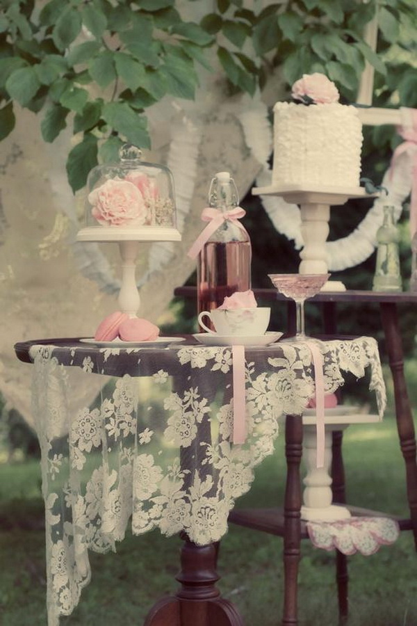 40 awesome shabby chic wedding decoration ideas for for Lampe style shabby chic