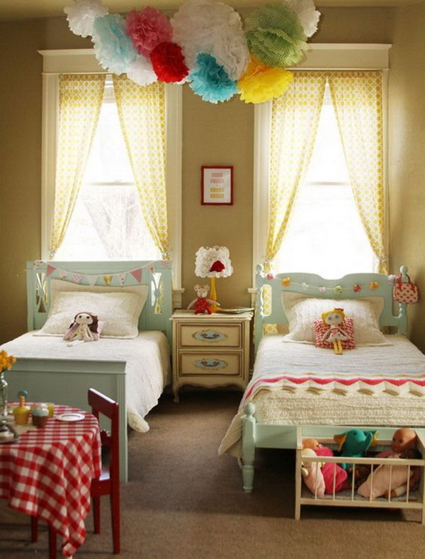 Big pom pom decor piece for little girls' bedroom. SO cute!