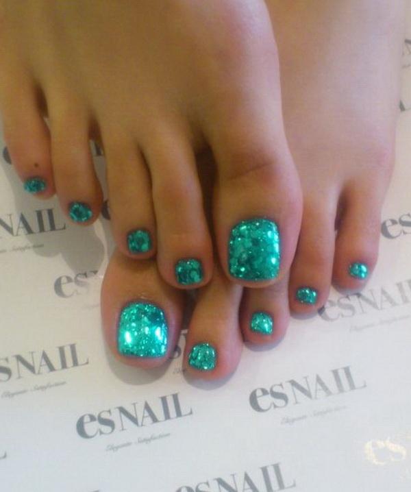 Mermaid Toe Nail Art Design