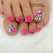 pretty toe nail art ideas