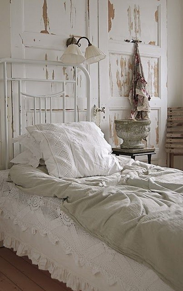 Shabby Chic Look with Old Doors for Decoration.