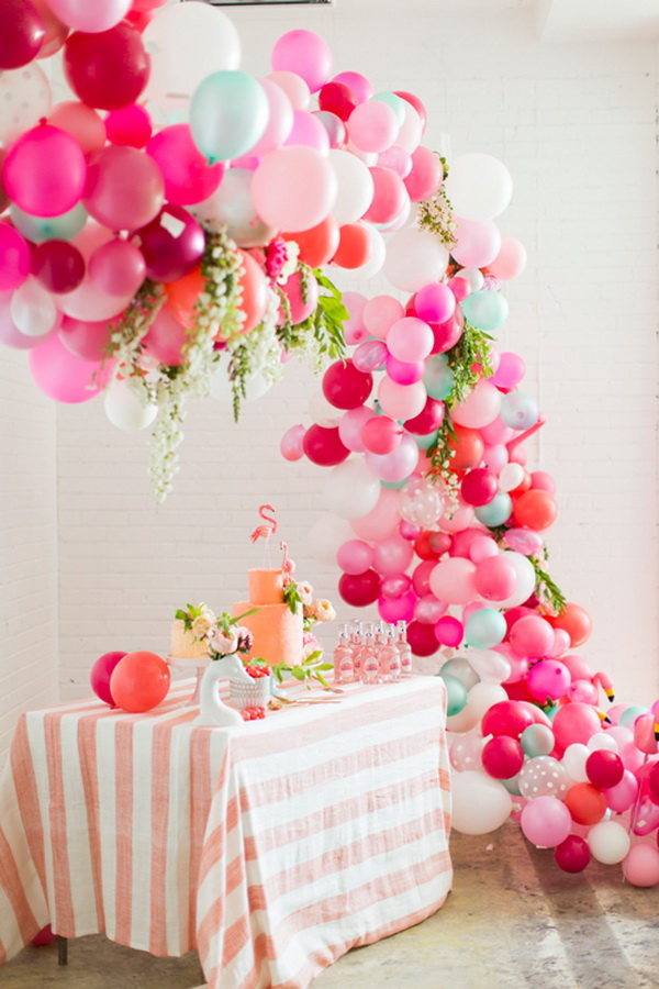 50 pretty balloon decoration ideas for creative juice for Balloon decoration at home