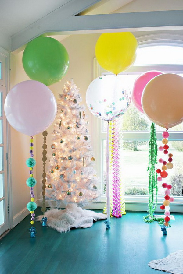 50 pretty balloon decoration ideas for creative juice for Balloon decoration ideas at home