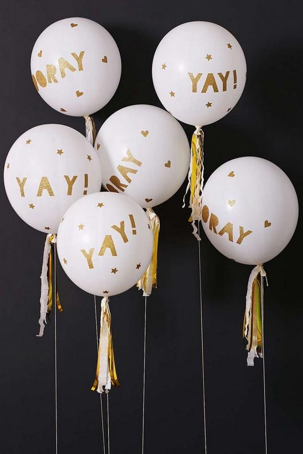Meri Meri Glittered Balloon Party Kit.