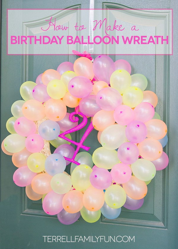 50 Pretty Balloon Decoration Ideas