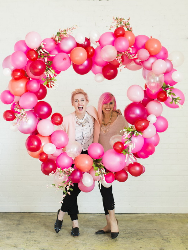 Valentine's Day Balloon Heart.