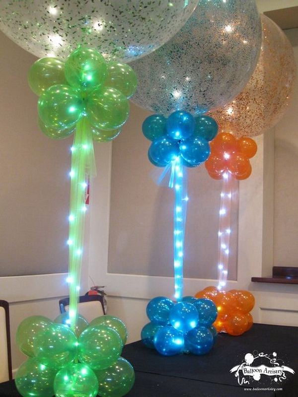 Sparkle Balloons with Rice Lights.
