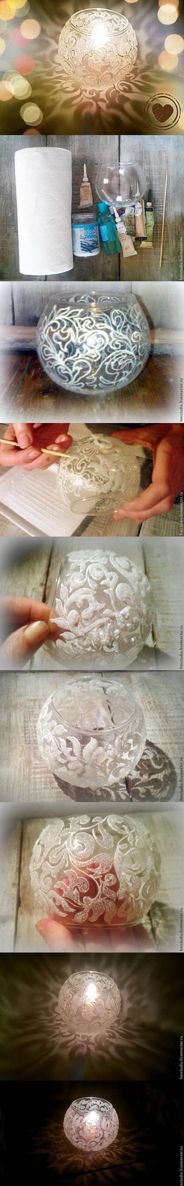 DIY Frosty Pattern Vase.