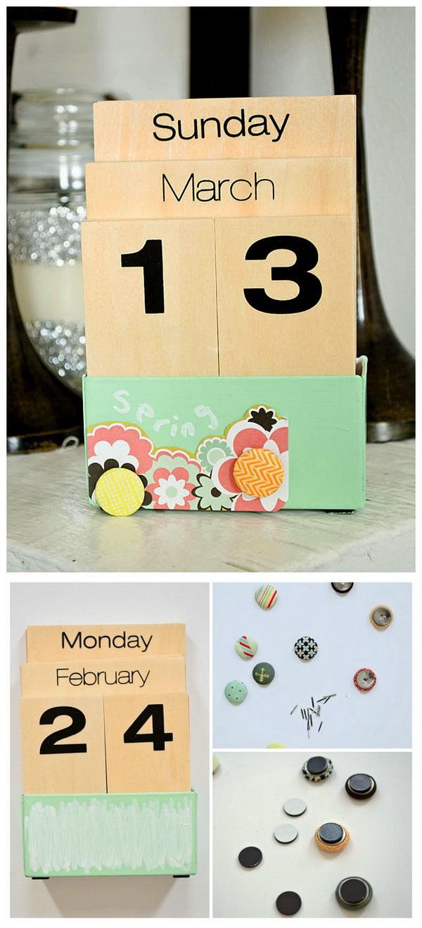 Add character to a standard calendar.