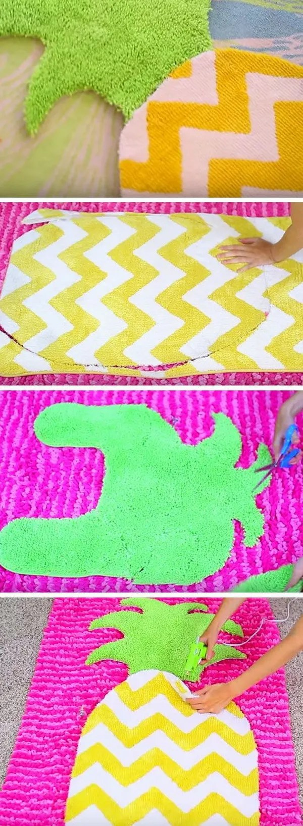 Easy diy projects for teenage girls rooms - Diy Fruit Rug Lovely And Cute For Any Room For Girls And Also Easy And