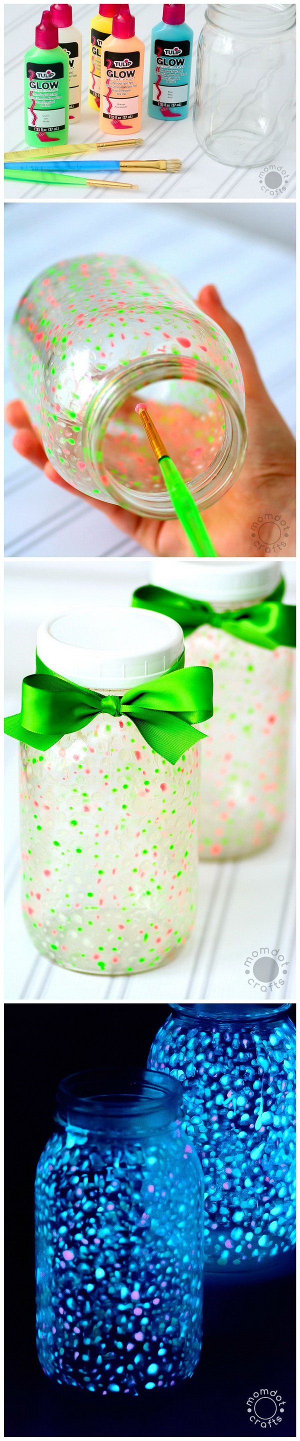 DIY Fairy Glow Galaxy Jars. DIY fairy glow galaxy jars! Great for late nights, story times, camping and summer fun!