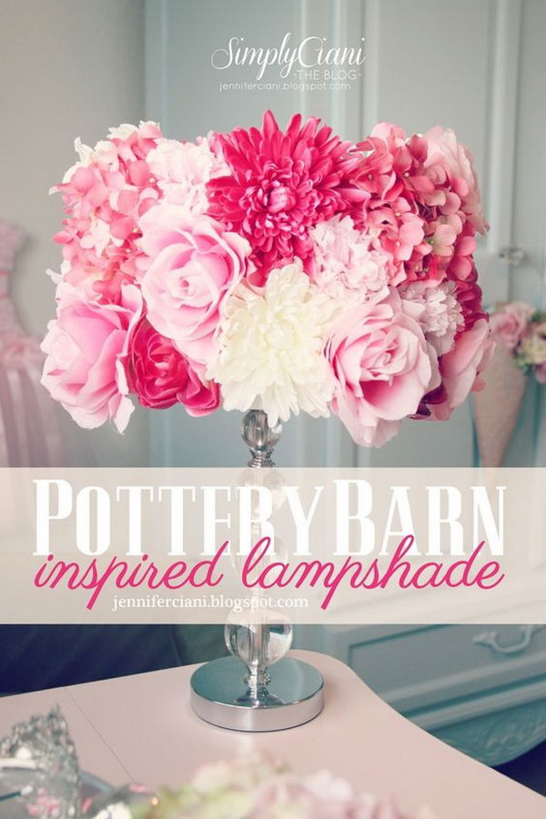 DIY Pottery Barn Lamp Shade: So lovely and girly! It must be every girl's wish list and also very easy and fun to make bu yourself.