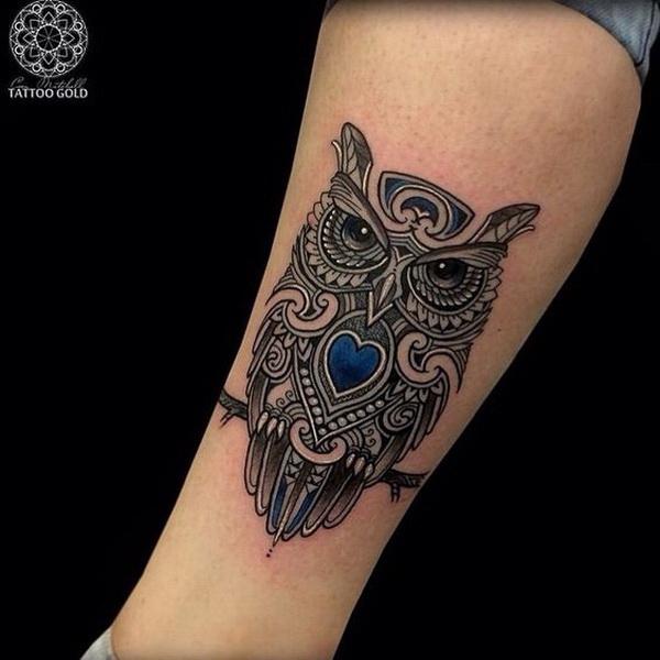 Owl tattoo ideas. More via https://forcreativejuice.com/attractive-owl-tattoo-ideas/