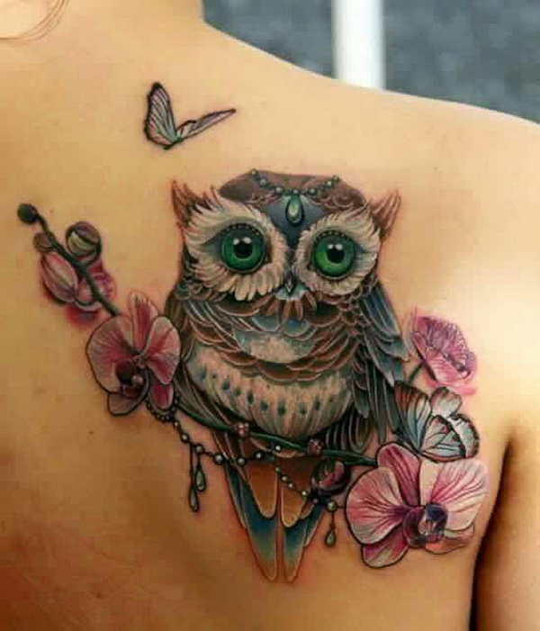 Owl tattoo ideas. More via https://forcreativejuice.com/attractive-owl-tattoo-ideas/