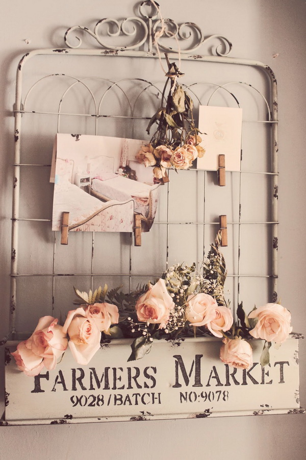 Vintage Fabric Gate or Wall Treatment.