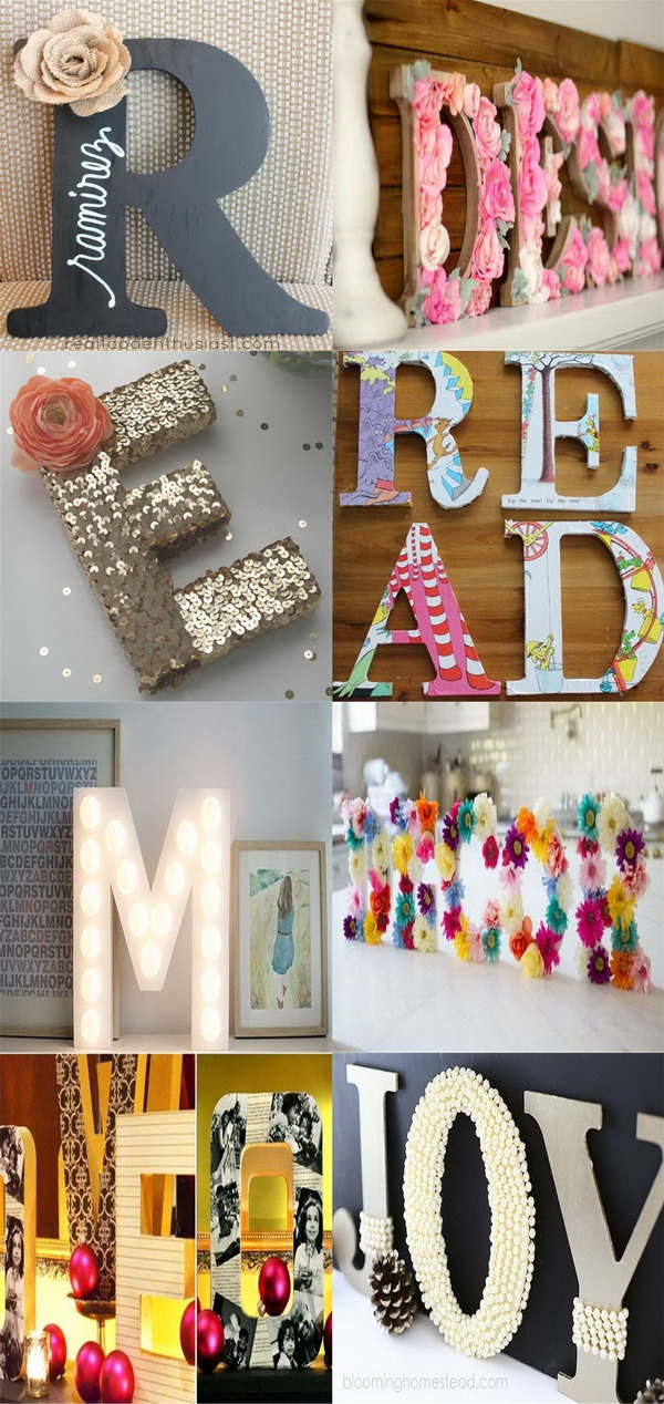 20 Best Diy Decorative Letters With Lots Of Tutorials For Creative Juice