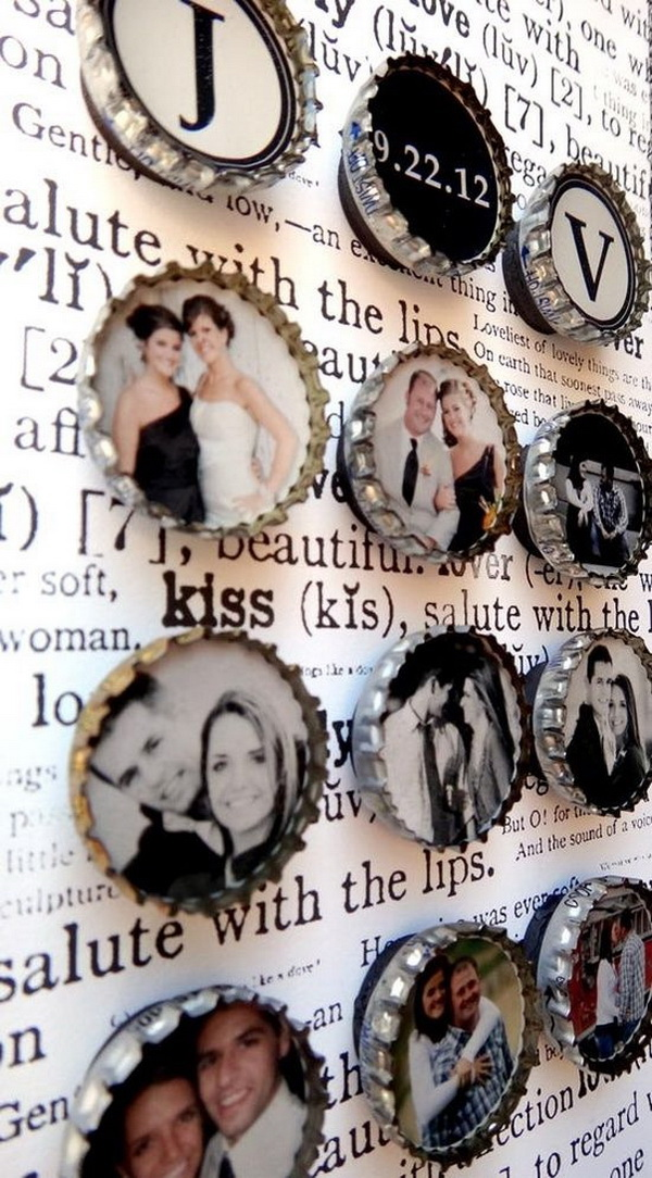 DIY Fridge Magnets Out of Bottle Caps and Photos. A fun craft that your kids can easily do in less than 30 minutes! This DIY photo fridge magnets will add a dose of custom color and personality to your kitchen.